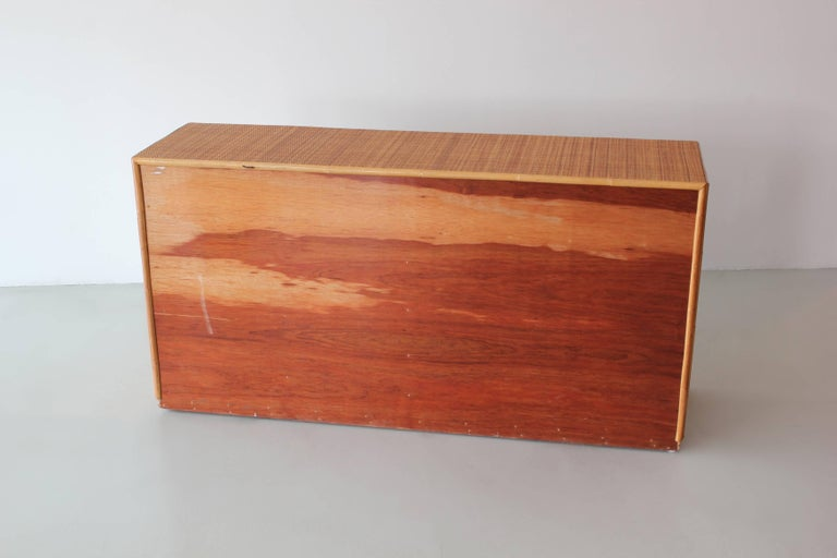 Rattan and Caned Cabinet For Sale 2