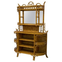 Rattan and Wicker Étagère by Maitland Smith
