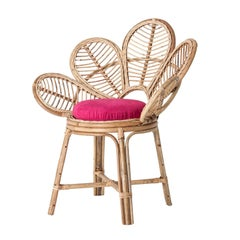 Rattan and Wicker Flower Shaped Chair