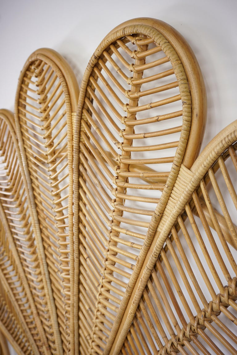 Rattan and Wicker Queen Size Headboard For Sale 1