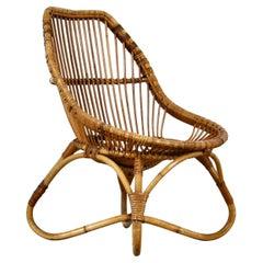 Rattan Armchair, 1960s