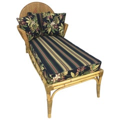 Rattan Art Deco Handmade Chaise Lounge