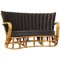 Rattan / Bamboo Sofa in the Style of Travasa