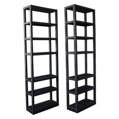 Rattan Bookcase, USA, 1960s, Pair Available