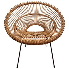 Rattan Chair by Janine Abraham Dirk Jan Rol France, circa 1960