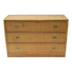 Rattan Chest in the Style of Bielecky Bros