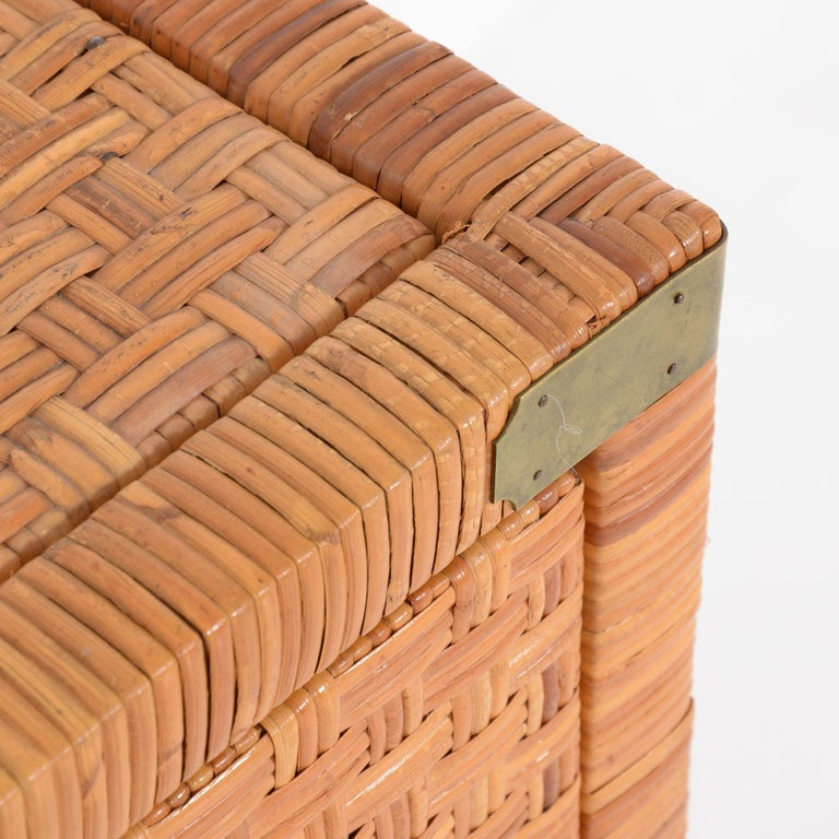 Mid-20th Century Rattan Chest of Drawers For Sale