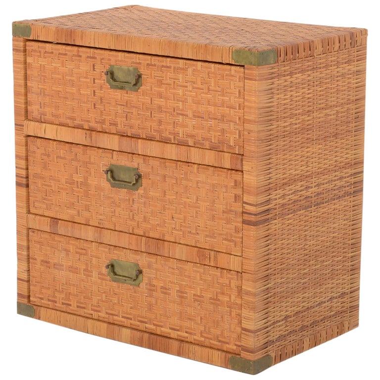 Rattan Chest of Drawers For Sale