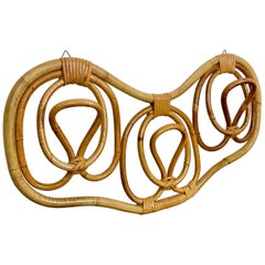 Rattan Coat Hook by Franco Albini & Franca Helg for Bonacina, Italy, 1960s