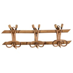 Rattan Coat Rack Attributable to Franco Albini for Bonacina, Italy, 1960s