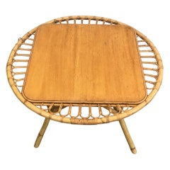 Rattan Coffee Table, French, circa 1950