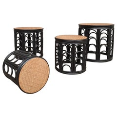 Rattan Coffee Table Set