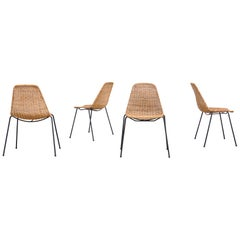 Wicker Dining Chairs by Gian Franco Legler