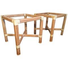 Rattan Dining Table Base by Kipp Stewart for Summit Furniture