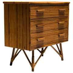 Rattan Drawer Chest by Vivai del Sud