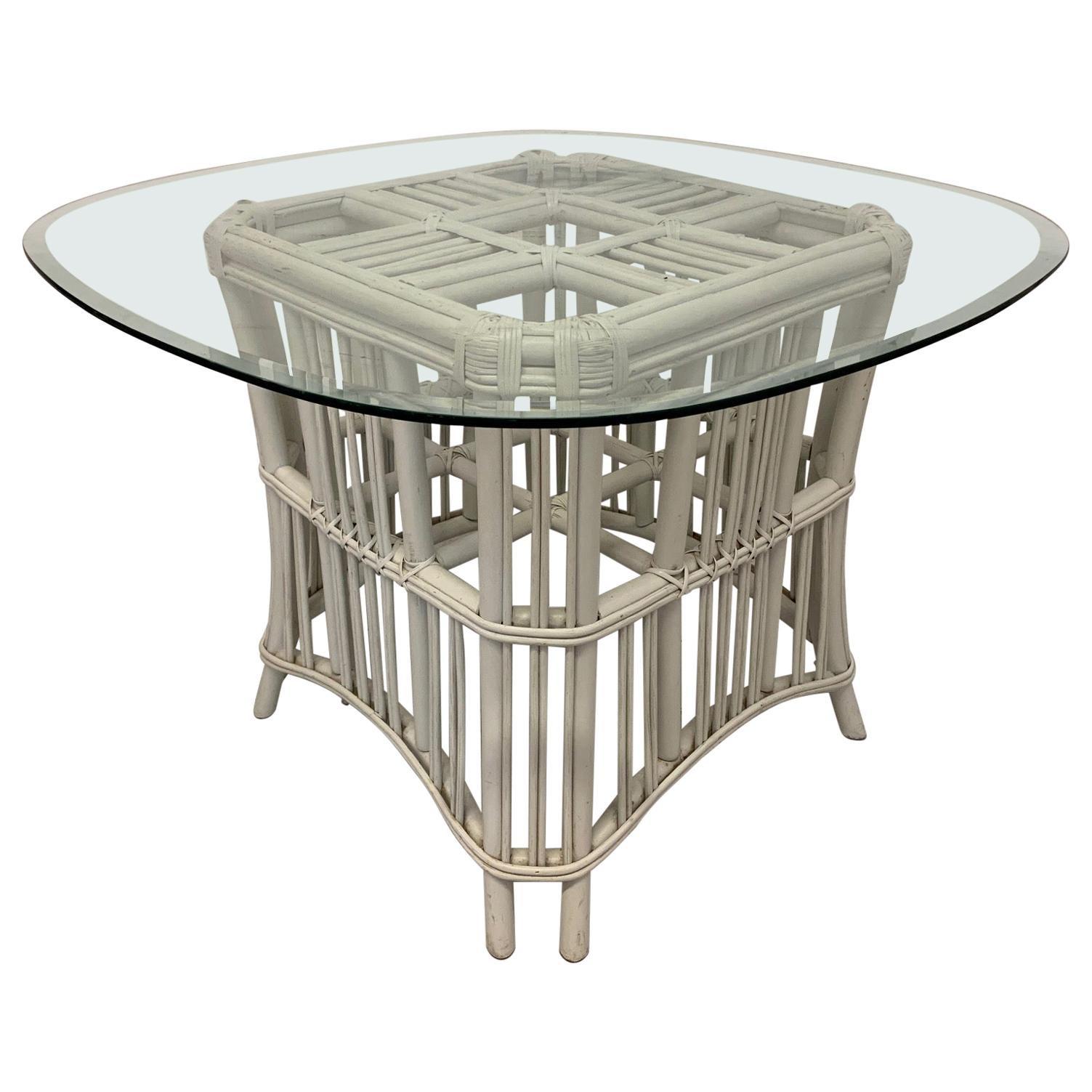 Rattan Ficks Reed Pedestal Dining Table