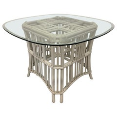 Rattan Ficks Reed Pedestal Dining Table