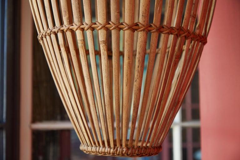 Rattan Hanging Pendant Lamp For Sale 1