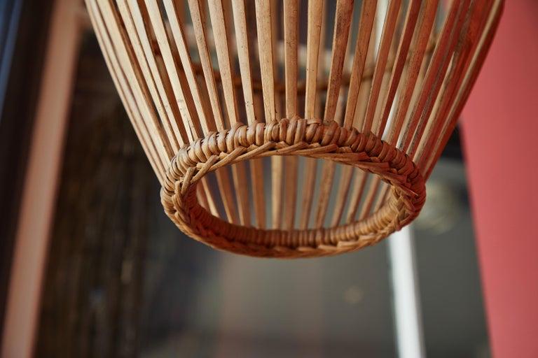 Rattan Hanging Pendant Lamp For Sale 3