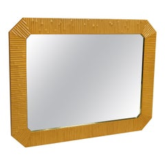 Rattan Large Rectangular Mirror