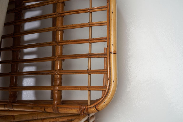 Rattan Lounge Chair in the style of Paul Frankl, United States, 1940s 5