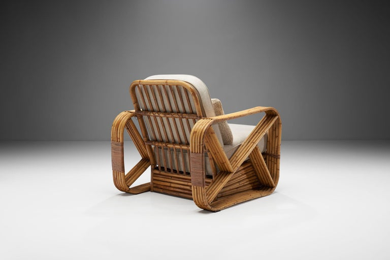 American Rattan Lounge Chair in the style of Paul Frankl, United States, 1940s