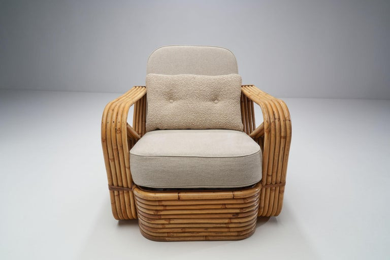 Rattan Lounge Chair in the style of Paul Frankl, United States, 1940s 1