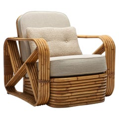 Rattan Lounge Chair in the style of Paul Frankl, United States, 1940s