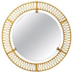 Rattan Mirror, circa 1960