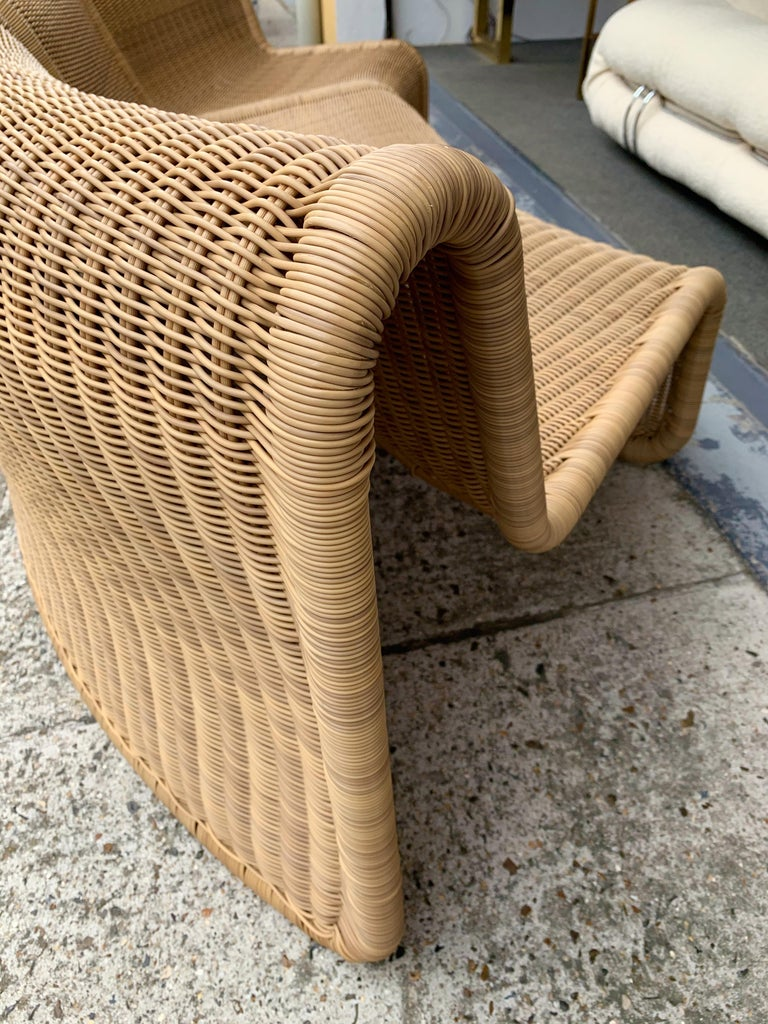 Rattan Modular Sofa Armchairs T3 by Tito Agnoli, Italy, 1970s For Sale 4