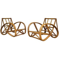 Rattan Pretzel Lounge Chairs