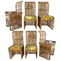 Rattan Rope Jute Wrapped 6-Piece Dining Chairs