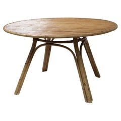 Rattan Round Table Audoux-Minet Styled