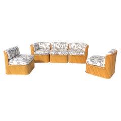 Rattan Sectional Sofa Modular 5 Piece Set