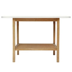 Rattan Shelf Occasional / Side Table by Paul McCobb for Calvin Furniture