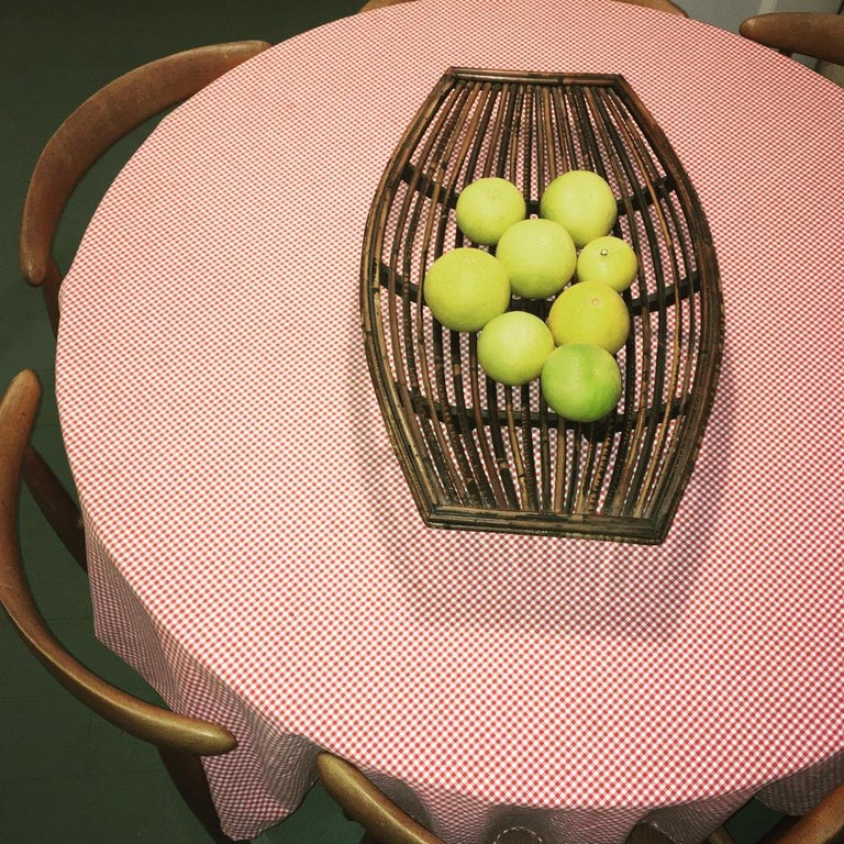 Rattan Split Cane and Silky Oak Tiki Tribal Fruit Basket, Melbourne, circa 1950 For Sale 10