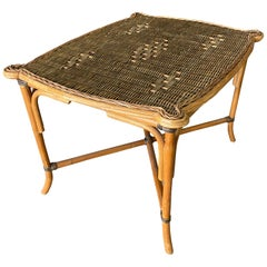 Rattan Table, circa 1960-1970
