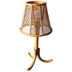 Rattan Table Lamp, France, circa 1956