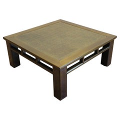 Rattan Top Low Table