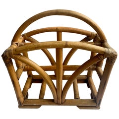 Rattan Two Sided Magazine Rack