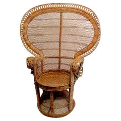 Rattan Wicker Emanuelle Peacock Chair