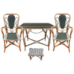 Rattan Winter Garden Set, France, circa 1920