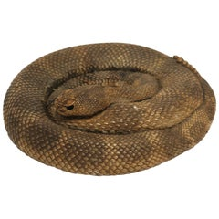 Rattle Snake Decorative Object or Desk Accessory, ca. 1980s USA