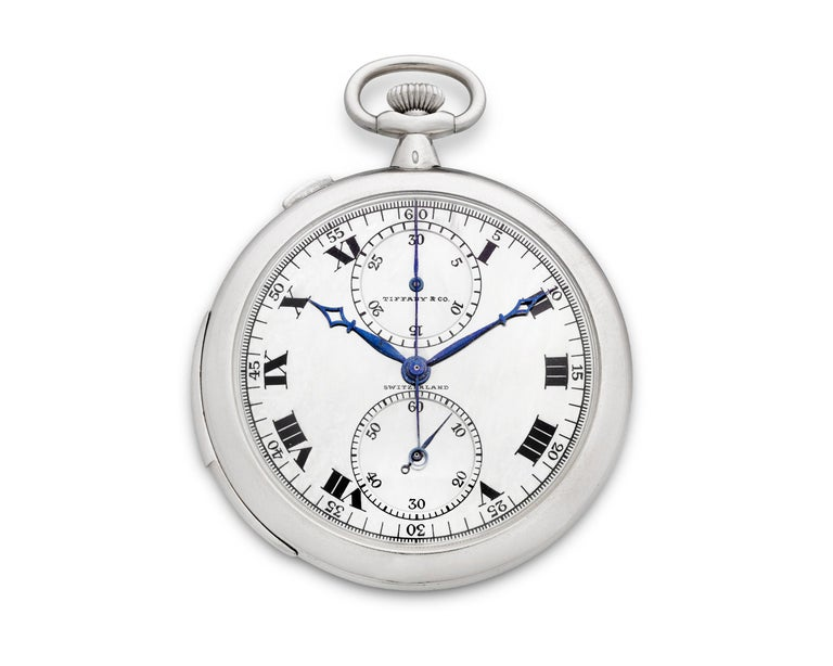 Rattrapante Chronograph Watch by Touchon & Co. for Tiffany & Co. In Excellent Condition For Sale In New Orleans, LA
