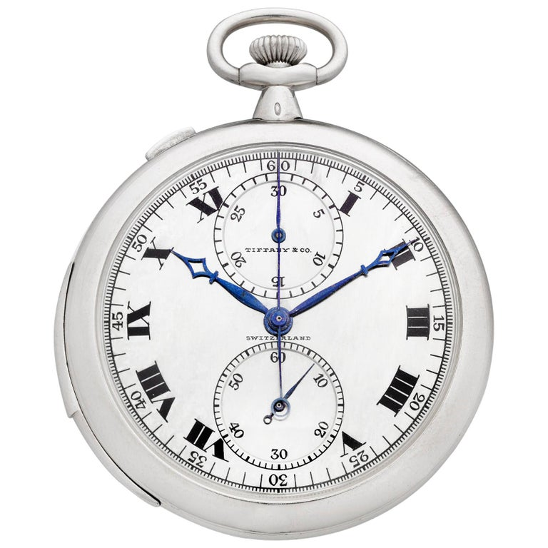 Rattrapante Chronograph Watch by Touchon & Co. for Tiffany & Co. For Sale