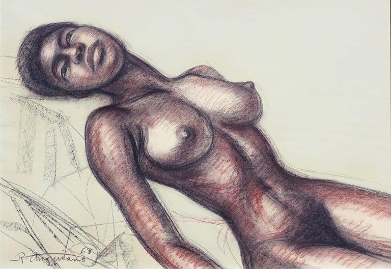 Mid Century Nude Study - Art by Raul Anguiano