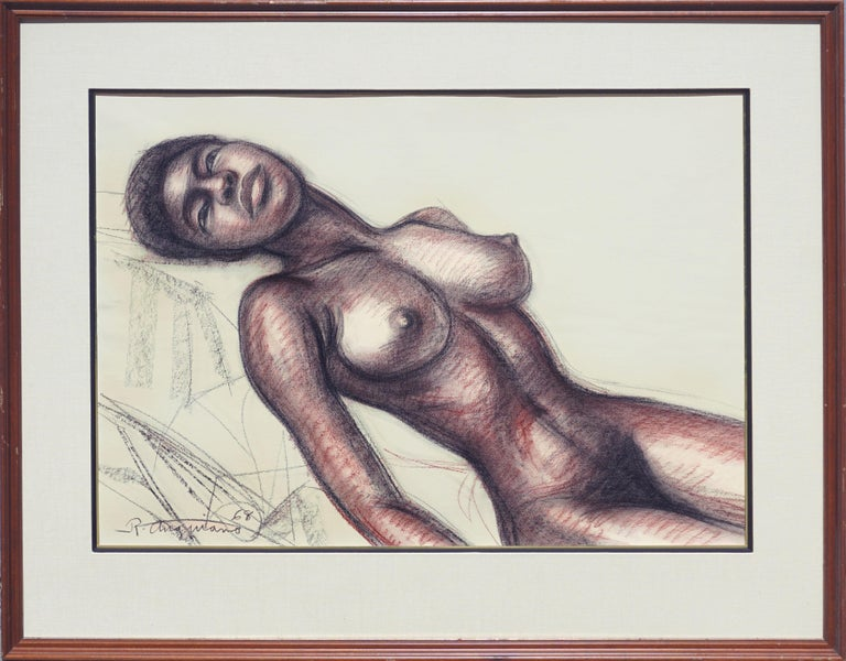 Raul Anguiano Figurative Art - Mid Century Nude Study