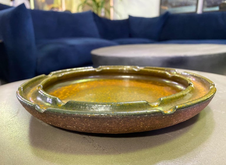 Raul Coronel Signed Mid-Century Modern Ceramic Pottery Bowl Ashtray, 1960s For Sale 1