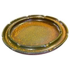 Raul Coronel Signed Mid-Century Modern Ceramic Pottery Bowl Ashtray, 1960s