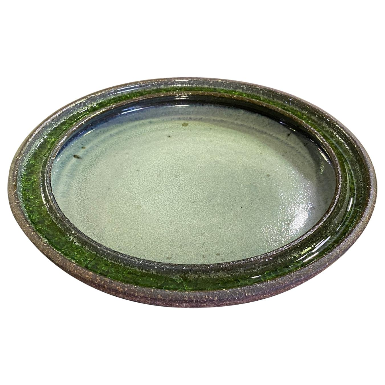 Raul Coronel Signed Mid-Century Modern Large Heavy Ceramic Pottery Bowl, 1960s
